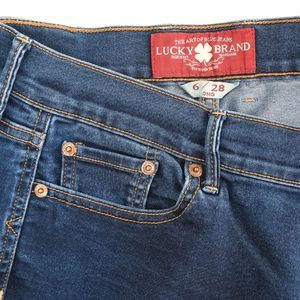 Lucky Brand Sweet N Low Dark Bootcut Stretch Jeans